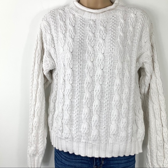 Vintage  Casual Corner Annex cable knit  cardigan sweater.